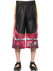 Astrid Andersen Gradient Printed Nylon Shorts Black Multi