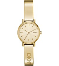 Dkny Ny2307 Soho Yellow Gold Plated Bracelet Watch