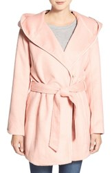 Women's Steve Madden Hooded Wrap Coat Soft Pink