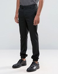 Asos Super Skinny Smart Joggers With Cargo Pockets Black