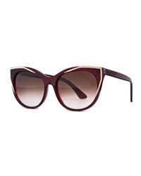 Thierry Lasry Polygamy Oversized Cat Eye Sunglasses Red