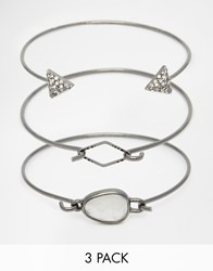 Pieces Three Bracelet Set Gunmetal