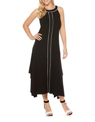 Rafaella Solid Sleeveless Dress Black