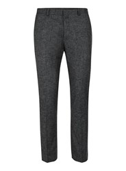 Topman Grey Charcoal Ultra Skinny Fit Cropped Smart Trousers