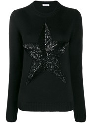 P.A.R.O.S.H. Sequinned Star Jumper Black