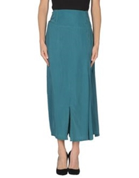 Oblique 3 4 Length Skirts Dark Blue