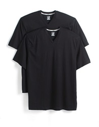 Jockey 2 Pack Big And Tall Cotton V Neck T Shirts Black