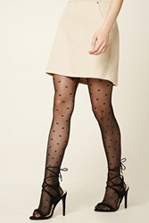 Forever 21 Bow Print Tights Black Black
