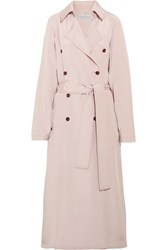 Gabriela Hearst Cabot Oversized Silk Charmeuse Trench Coat Blush
