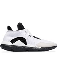 Y 3 Lace Up 'Saikou' Leather Sneakers White