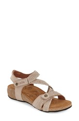 Women's Taos 'Trulie' Wedge Sandal Stone Leather