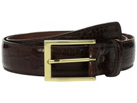 Torino Leather Co. 35Mm Gator Grain Embossed Calf Brown Belts