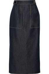 Carolina Herrera Woman Denim Midi Pencil Skirt Light Denim