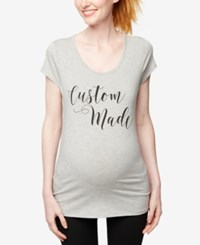 A Pea In The Pod Maternity Graphic T Shirt Grey