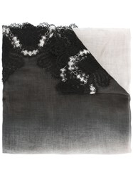 Ermanno Scervino Lace Trim Scarf Black