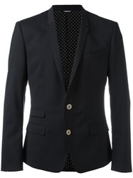 Dolce And Gabbana Single Breasted Jacket Black