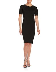 T Tahari Fitted Sheath Dress Black