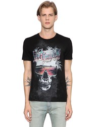 Just Cavalli Skull Printed Cotton Jersey T Shirt