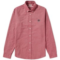 Kenzo Button Down Tiger Oxford Shirt Red