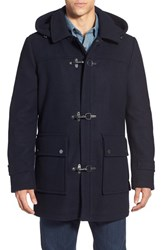 Men's Pendleton 'Knob Hill' Wool Blend Toggle Coat Navy