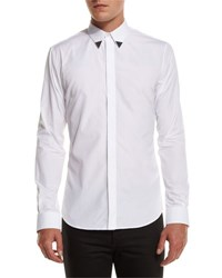 Givenchy Metal Tip Point Collar Shirt White