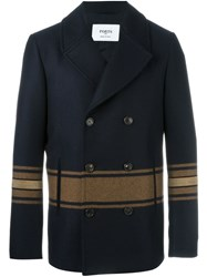 Ports 1961 Striped Double Breasted Blazer Blue