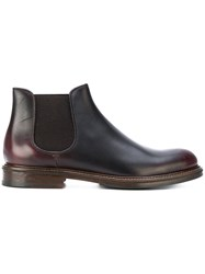 Doucal's Chelsea Boots Leather Rubber 41.5 Brown