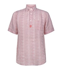 Billionaire Printed Linen Polo Shirt Male Red