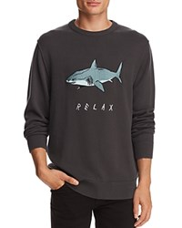 Barney Cools Relax Shark Knit Crewneck Sweater 100 Exclusive Charcoal Gray