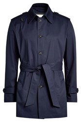 Palto Short Trench Coat With Cotton
