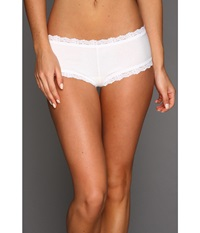Hanky Panky Organic Cotton Boyshort W Lace White Women's Underwear
