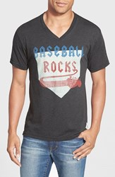 Men's 7Th Inning Stretch 'Baseball Rocks' Graphic V Neck T Shirt