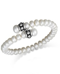 Honora Style Cultured Freshwater Pearl Pallini Coil Bracelet 7Mm White