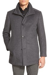 Men's Boss 'Coxtan' Trim Fit Wool Car Coat