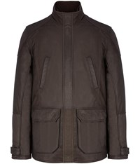 Austin Reed Brown Leather Jacket