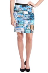 Women's Karen Kane Collage Print Scuba Knit Pencil Skirt