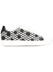 Moa Master Of Arts Polka Dot Low Top Sneakers Men Cotton Leather Rubber 40 White