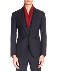 Berluti Wool Two Button Jacket With Gilet Navy
