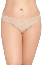 Natori Plus Size Women's 'Bliss Perfection' Bikini Brief Cafe