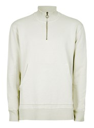 Topman Ltd Mint Green Half Zip Oversized Track Top