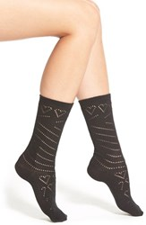 Women's Kensie Pointelle Crew Socks