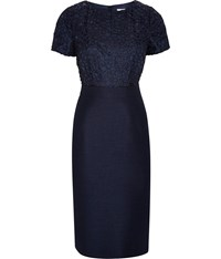Cc Shimmer Tailored Dress Navy