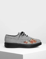 Charles And Keith Floral Embroidery Derby Shoes Multi