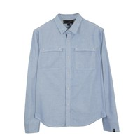 Roamers And Seekers Cirus Light Denim Cotton Oxford Shirt Blue