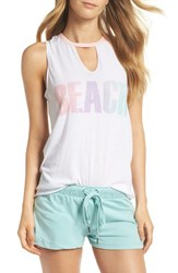 Pj Salvage Graphic Lounge Tank White