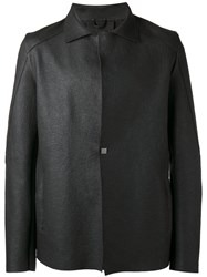 10Sei0otto Square Button Detailed Jacket Black