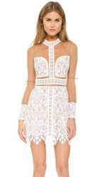 For Love And Lemons Vivian Mini Dress Ivory