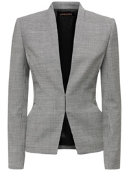 Jaeger Dogstooth Fitted Jacket Black White