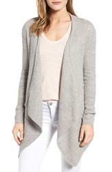 Velvet By Graham And Spencer Women's Ribbed Cashmere Open Front Cardigan