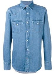 Tom Ford Button Up Denim Shirt Men Cotton 42 Blue